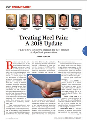 treating heel pain